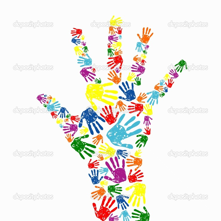 Handprint clipart supportive #10