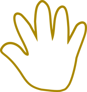 Handprint clipart supportive #4