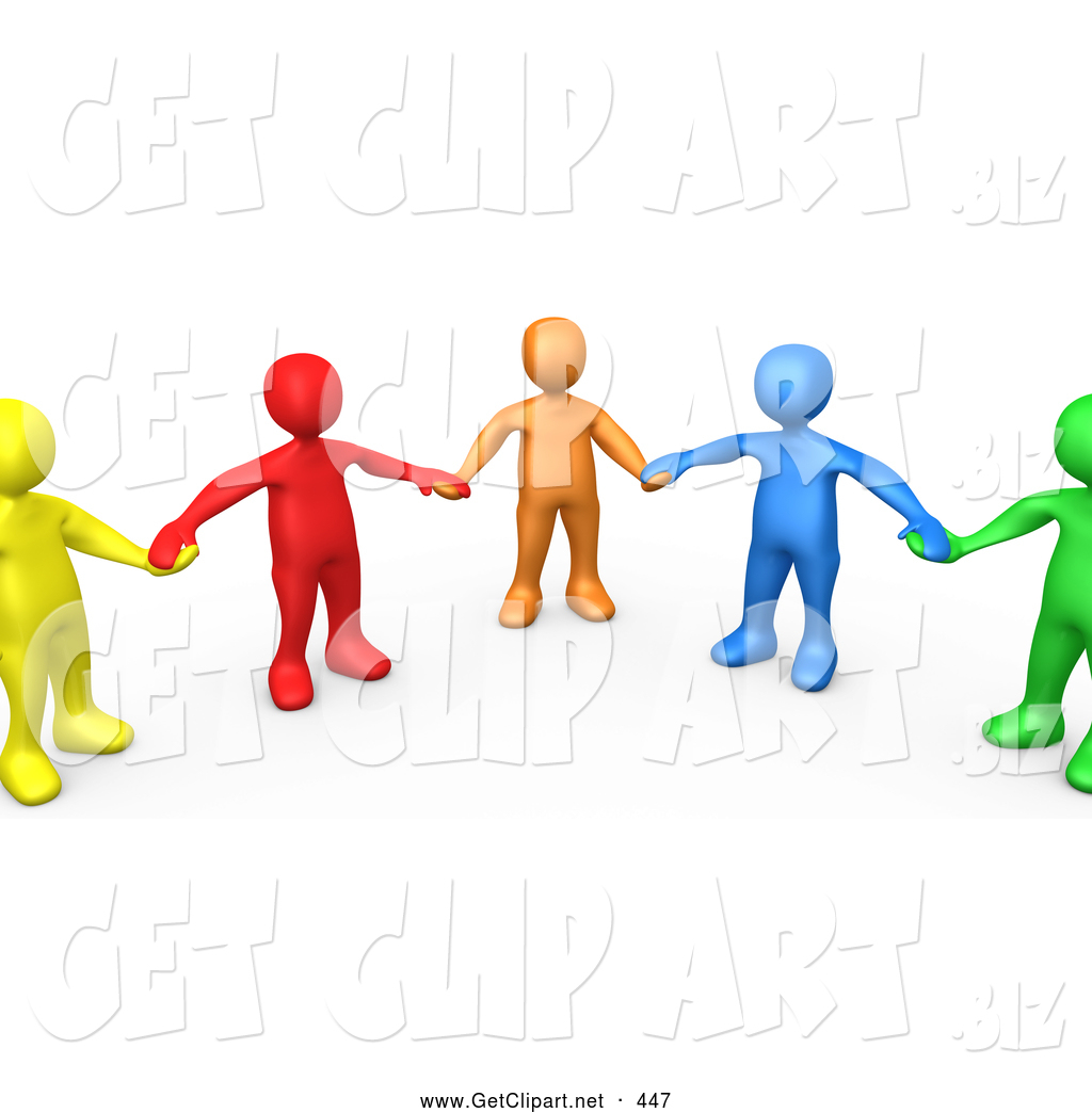 Handprint clipart supportive #2