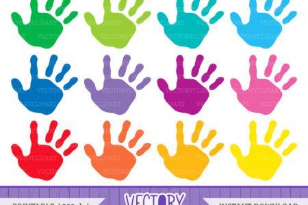 Handprint clipart together DA Handprint UK Kids Art