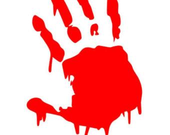 Handprint clipart toddler Zombie Inside decal FREE Handprint