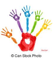 Handprint clipart toddler Handprint of Kids handprint Stock