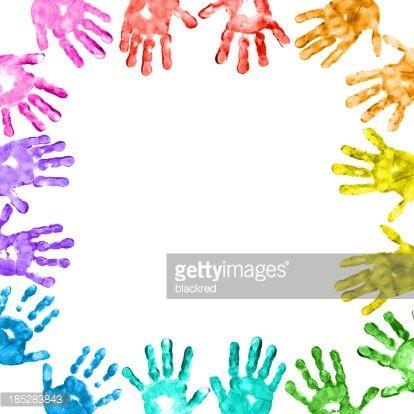 Handprint clipart toddler Handprints Colorful Children Children Getty