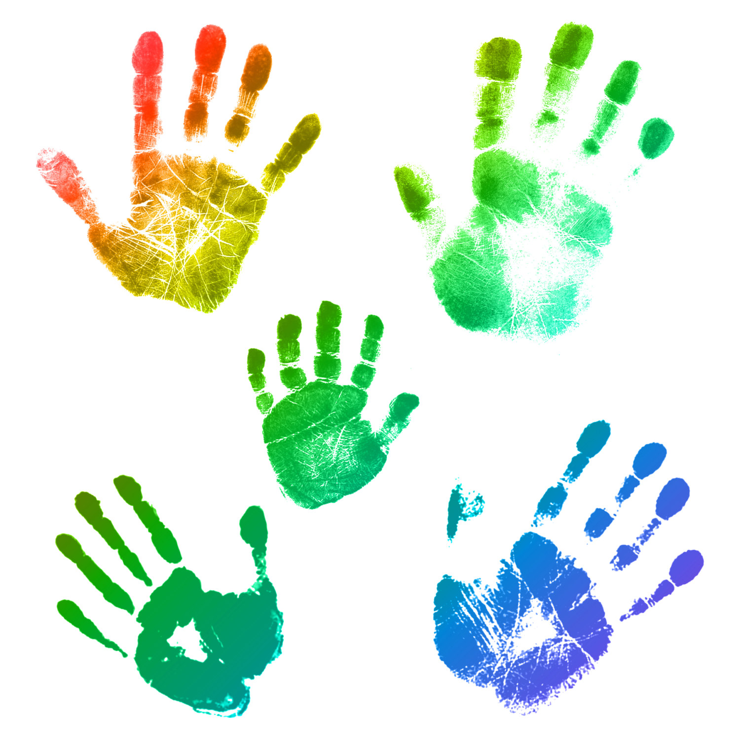 Handprint clipart together  Commercial Brushes Instant Photoshop