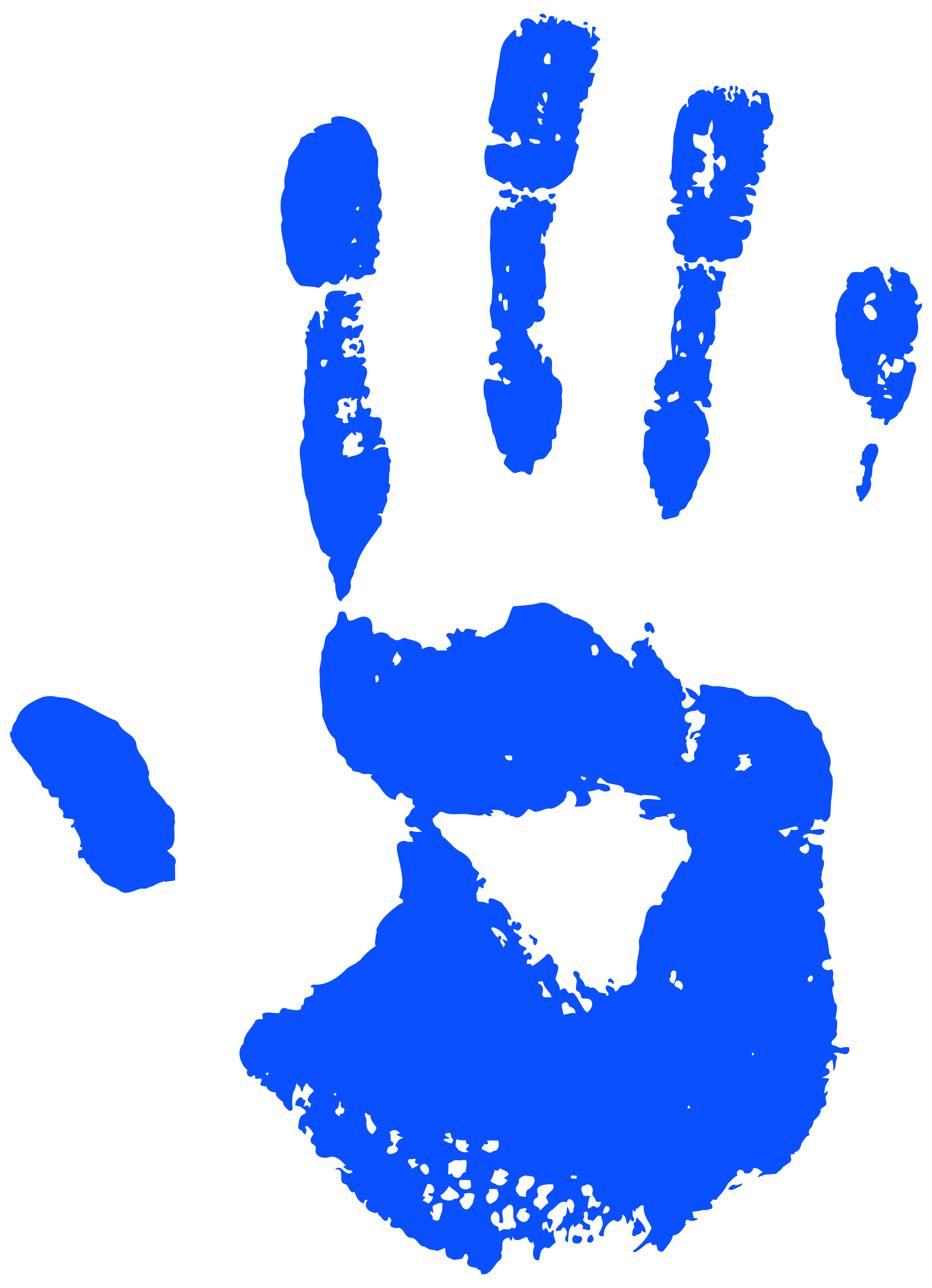 Blue clipart handprint Image Yopriceville size Gallery View