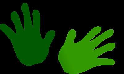 Handprint clipart transparent On Free Clip Clip Border