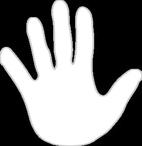 Handprint clipart transparent White online vector at White