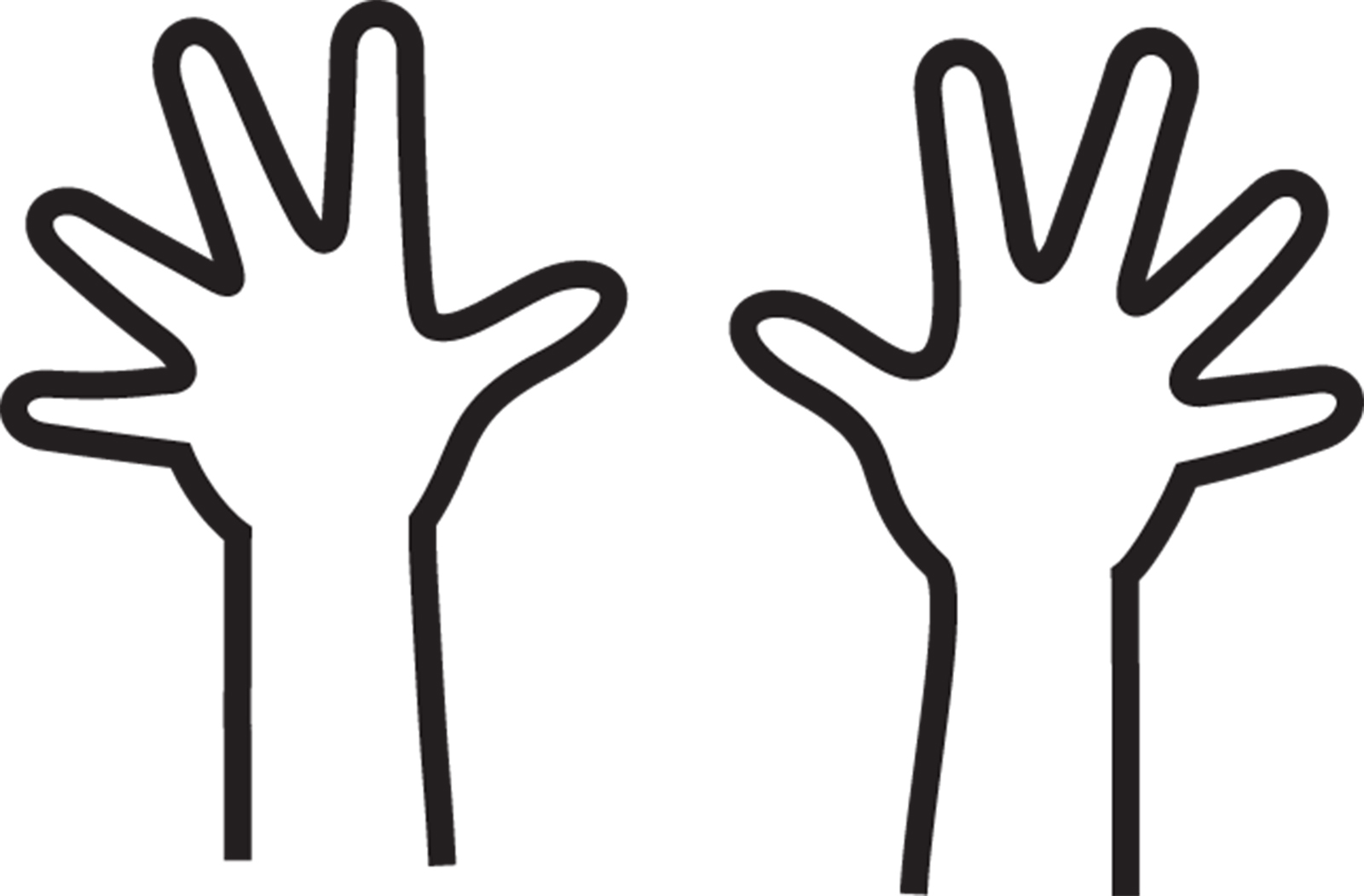 Handprint clipart two hand Outline Collection Outline  a