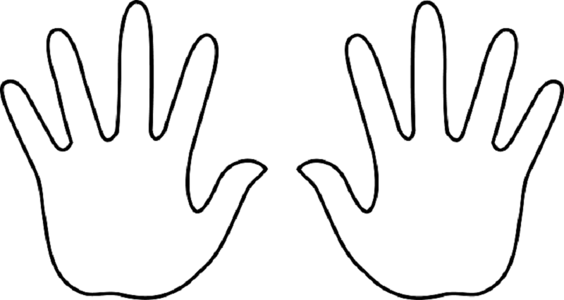 Handprint clipart two hand Com #8315 Image Template Outline