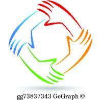 Handprint clipart unity hand logo Logo unity logo identity