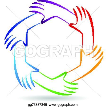Handprint clipart unity hand logo Unity  icon card unity