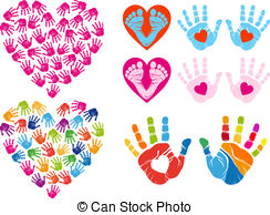 Handprint clipart vector  Illustration And hand