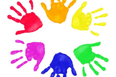 Handprint clipart wreath Images Baby Free Art Hand