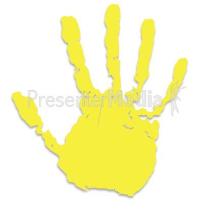 Handprint clipart yellow Print Hand Single  Yellow