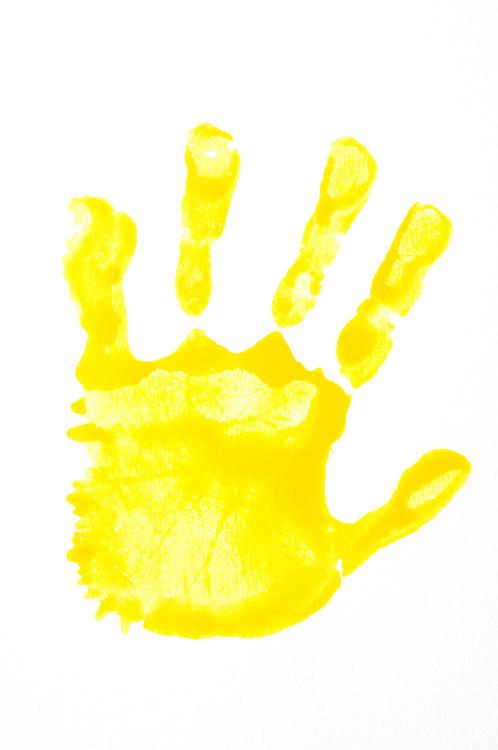 Handprint clipart yellow Clipart Zone Handprint Yellow Cliparts