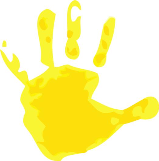 Handprint clipart yellow Kids Clipart clipart Handprint Kids