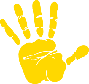 Handprint clipart yellow Hand Print Yellow Download Hand