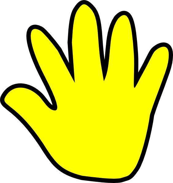 Handprint clipart yellow Clker image Clip this Download