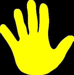 Handprint clipart yellow Clipart info Handprint Yellow more