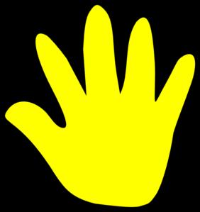Handprint clipart yellow At Yellow Yellow Handprint Child