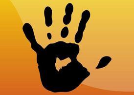 Handprint clipart yellow Hand me Print Hand Clipart
