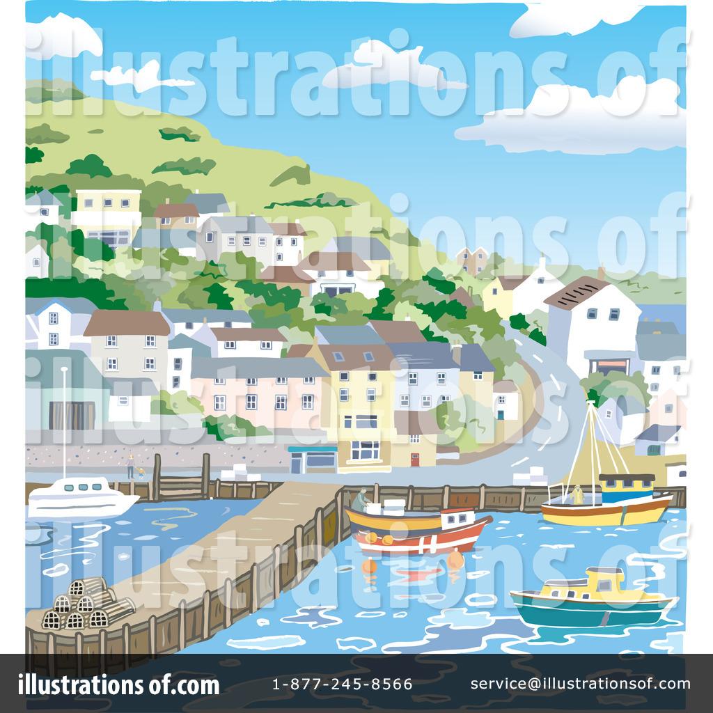 Harbor clipart bay Harbor (RF) #35921 Clipart Illustration