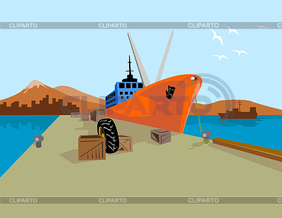 Ship Harbor Clip Art Clipart