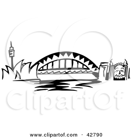 Harbor clipart black and white Harbour sydney drawing Mood Trade