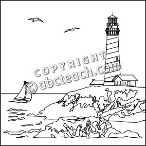 Harbor clipart black and white Art black lighthouse (69+) White