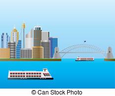 Harbor clipart harbour Stock EPS Illustration Australia Australia