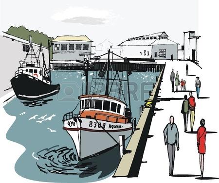 Harbor clipart port New harbor boat  Wellington