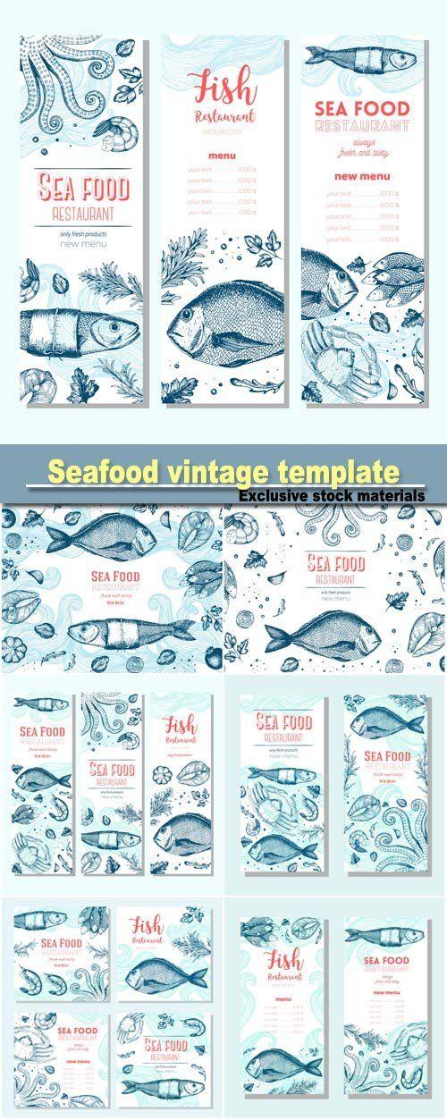 Harbor clipart seafood restaurant Restaurant menu vintage Seafood ideas