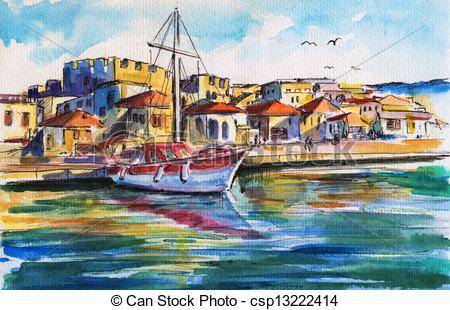 Harbor clipart wharf Clipart Art Harbor – Art