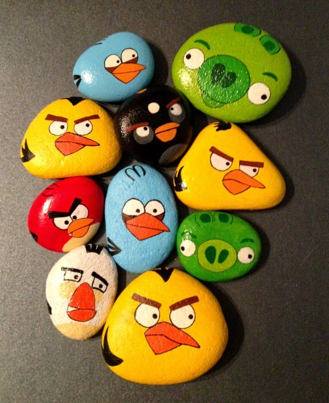 Hard Rock clipart angry #unicatella birds Angry Pinterest #paintedstones