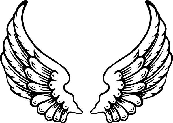 Wings clipart drawn Angel images clip wings art