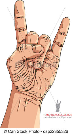 Heavy Metal clipart musical instrument  n sign hand n