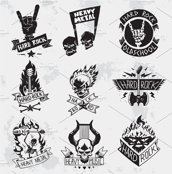 Heavy Metal clipart musical instrument Music Illustrations symbol Creative ~