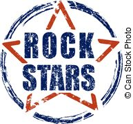 Hard Rock clipart live music And and stars stamp rubber