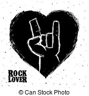 Hard Rock clipart live music Rock and stamps design Vectors