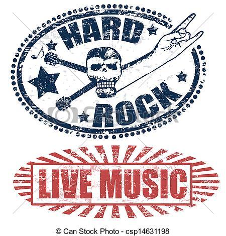 Hard Rock clipart live music Illustrations live stamps rock music