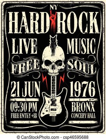 Hard Rock clipart live music Stock Art 843 Rock Poster