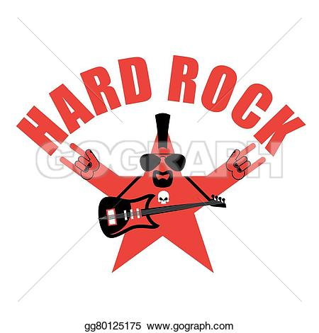 Hard Rock clipart rock and roll Electric with and star an