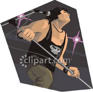 Hard Rock clipart rock singer #1