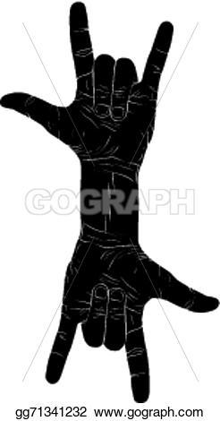 Hard Rock clipart sign hand logo On n creative music hands