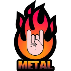 Hard Rock clipart sign hand logo Metal salute The for Dio
