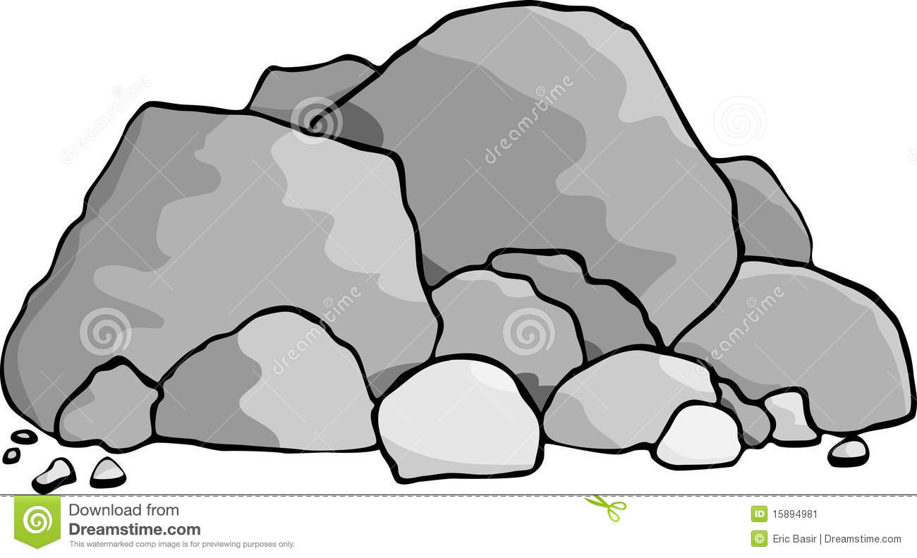 Pebble clipart black and white Panda Clipart Free Rocks Clipart