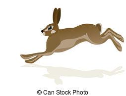 Hare clipart Stock Illustrations background Running EPS