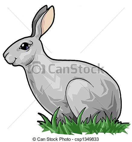 Hare clipart  Illustrations in Cute Hare