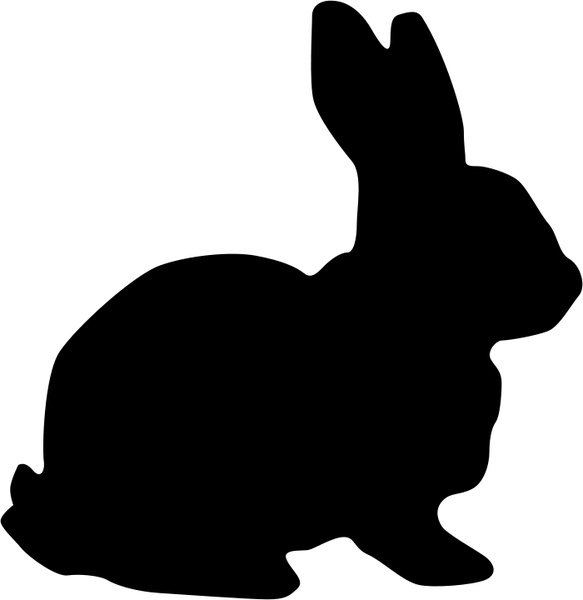 Hare clipart silhouette Free Rabbit in vector svg