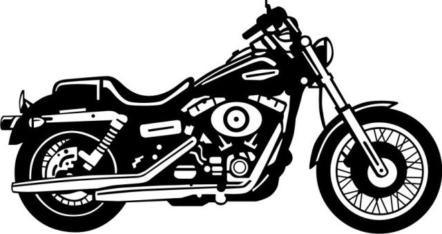 Harley Davidson clipart Clipart motorcycle white black Harley